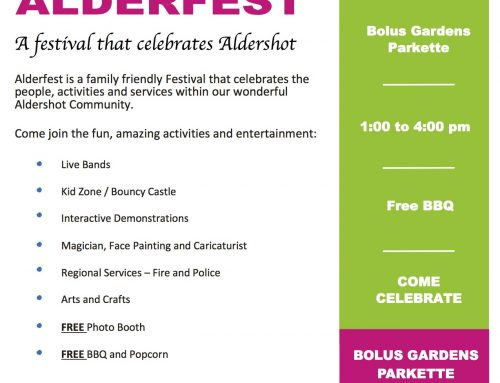 Alderfest ~ Save the Date September 16th!
